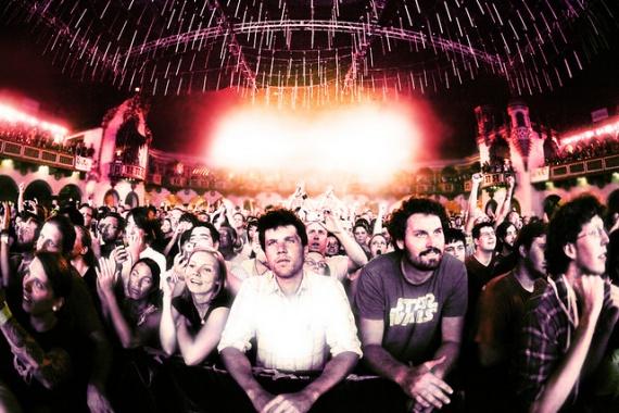 Съёмка толпы на концертах