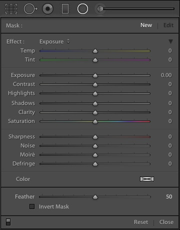 Как работать с новым инструментом «радиальный фильтр» в Lightroom 5